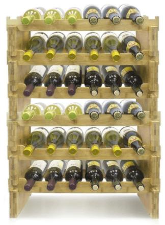 Sorbus Bamboo Wine Rack