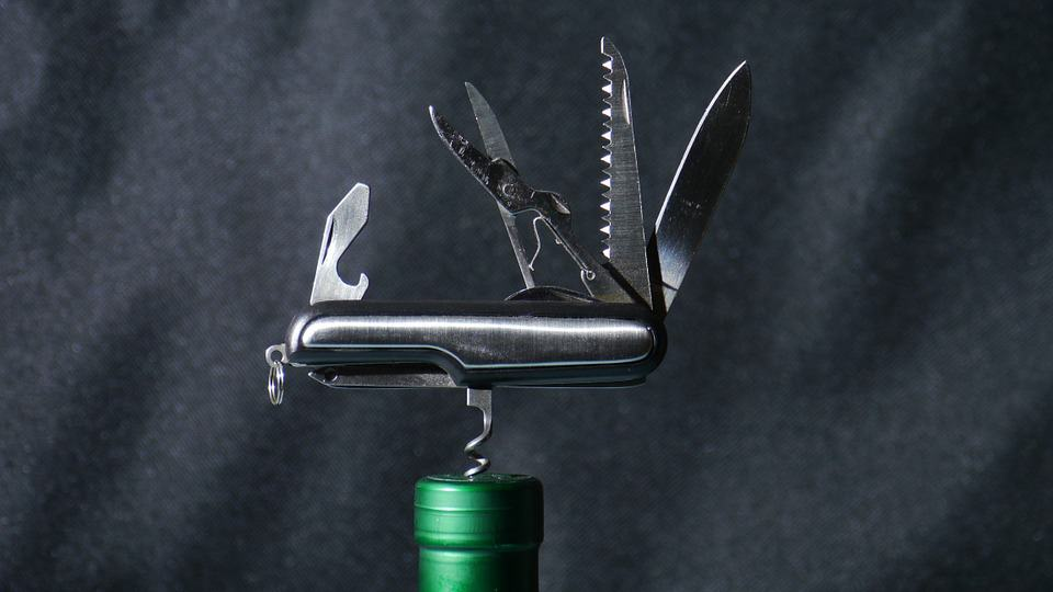 army knife wine opener