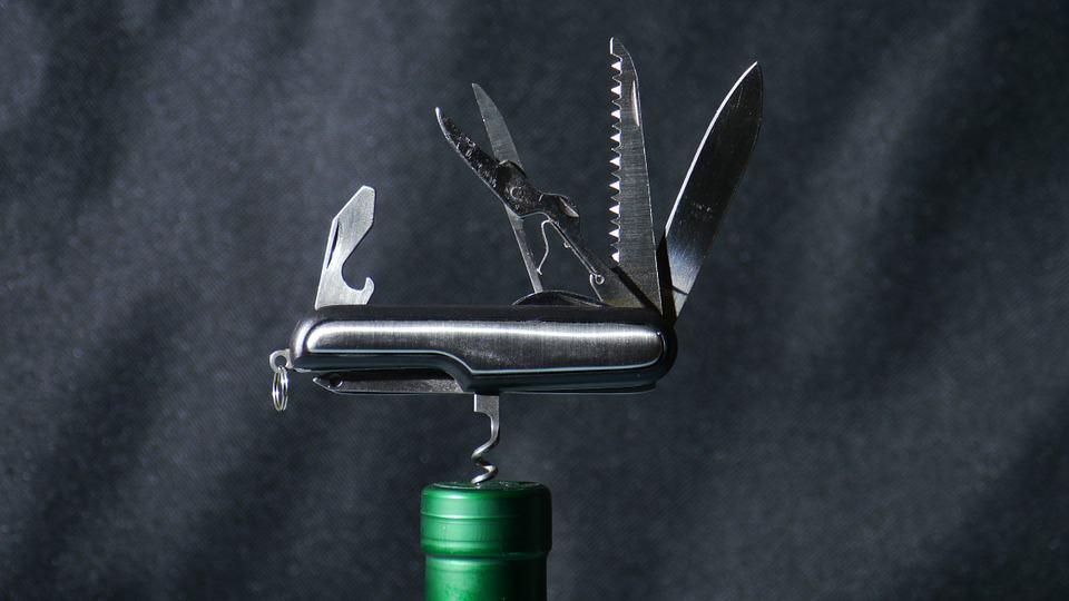 army knife wine opener