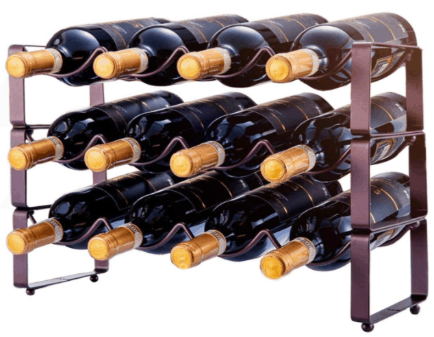 stackable 3 tier wine rack