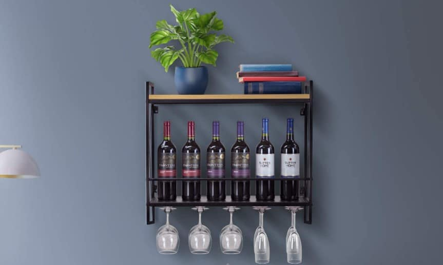 Best Wall Wine Racks with Glass Holders