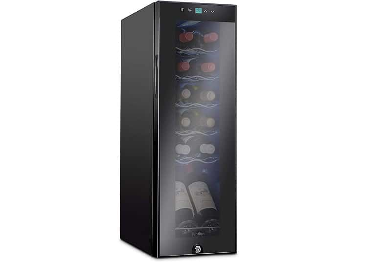 Ivation compression wine cooler, 12-bottle
