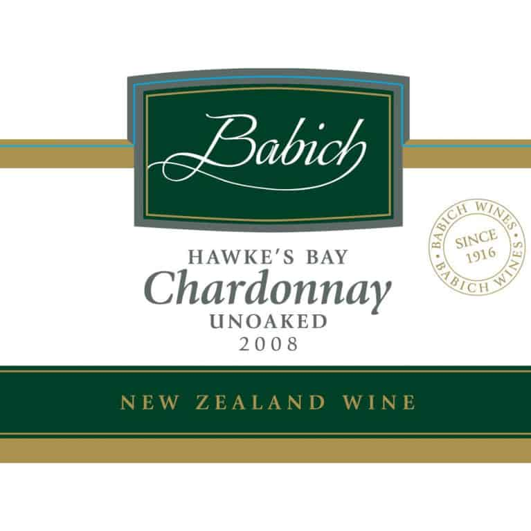 Babich Hawke's Bay Unoaked Chardonnay 2008 | Wine.com