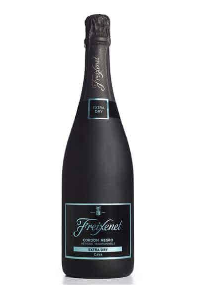 Freixenet Cordon Negro Brut Extra Dry Cava Sparkling White Wine Price & Reviews   Drizly